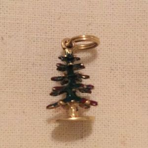 Vintage 1960s 14K gold Christmas tree charm